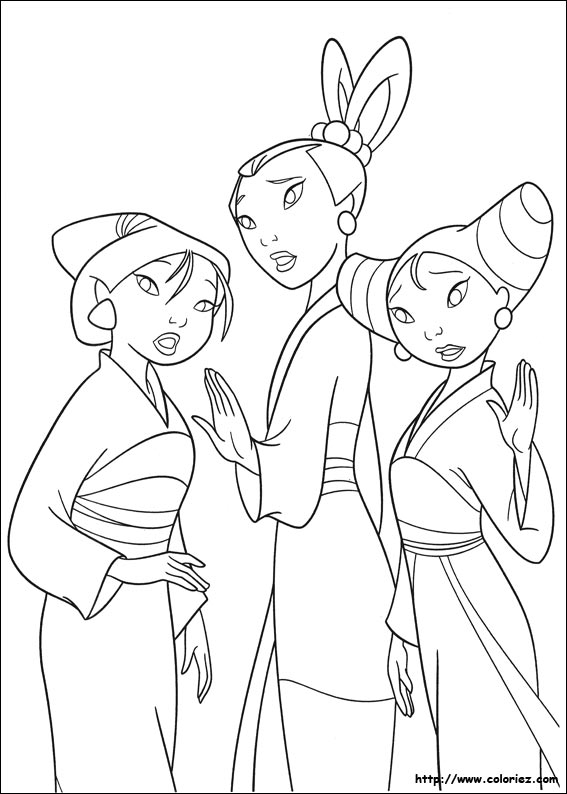 coloriage dragon mulan