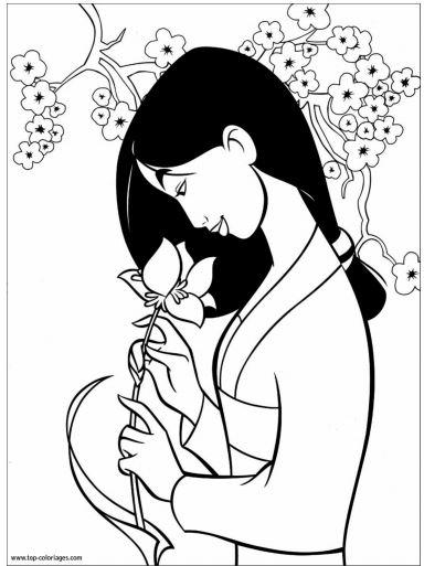 coloriage à dessiner de mulan a imprimer