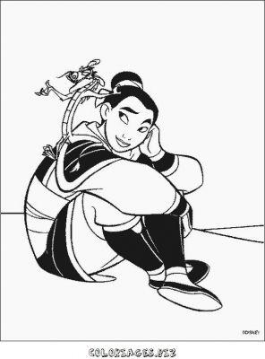 jeu de coloriage à dessiner mulan