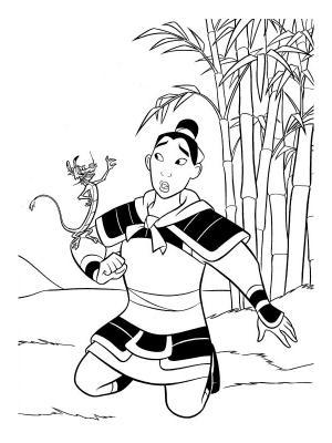 dessin de mulan a imprimer