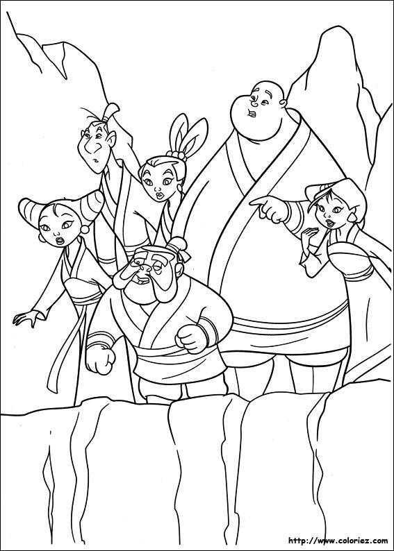 Dessin colorier mulan en ligne - Mulan coloriage ...