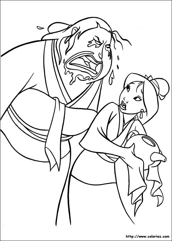 dessin en ligne gratuit mulan