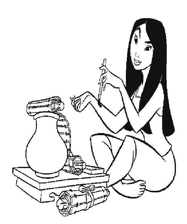 dessin à colorier dragon mulan