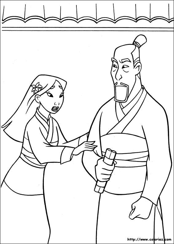 jeux de dessin de mulan
