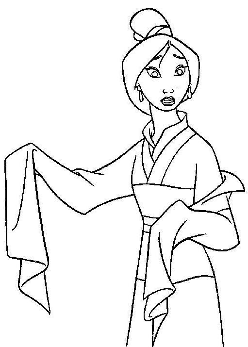 dessin à colorier mulan 2