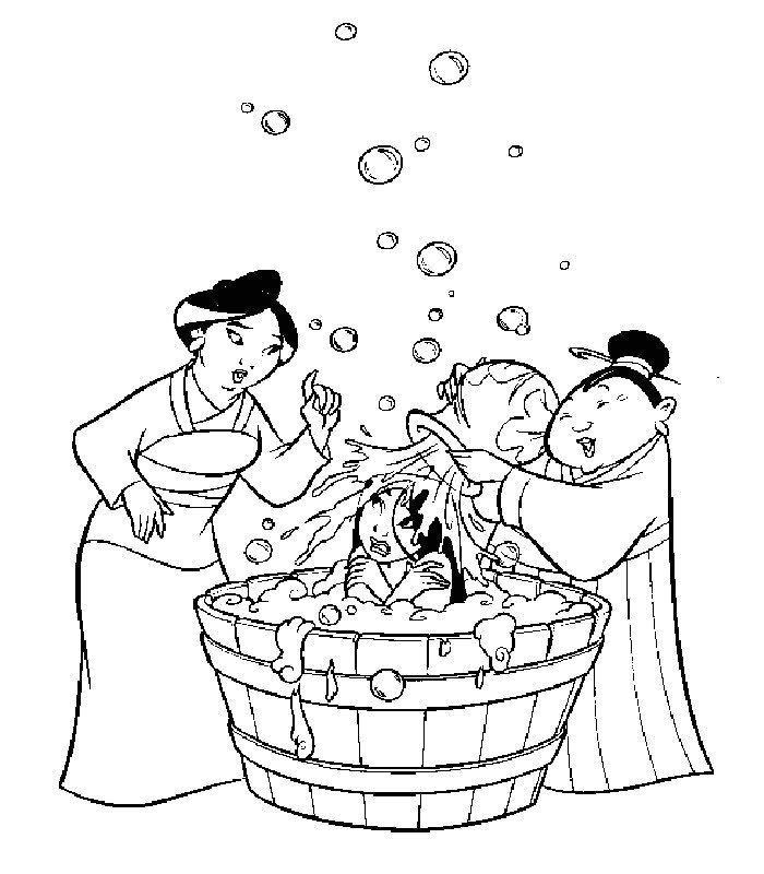 dessin à colorier princesse mulan