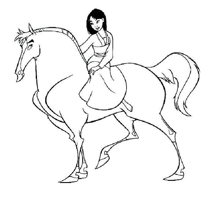dessin à colorier a imprimer mulan gratuit