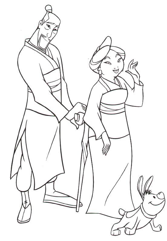 dessin à colorier mulan mushu