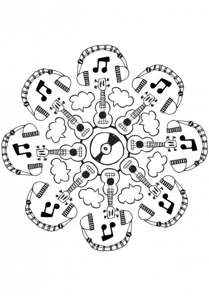 Dessin colorier instrument de musique maternelle - Dessiner un violon ...