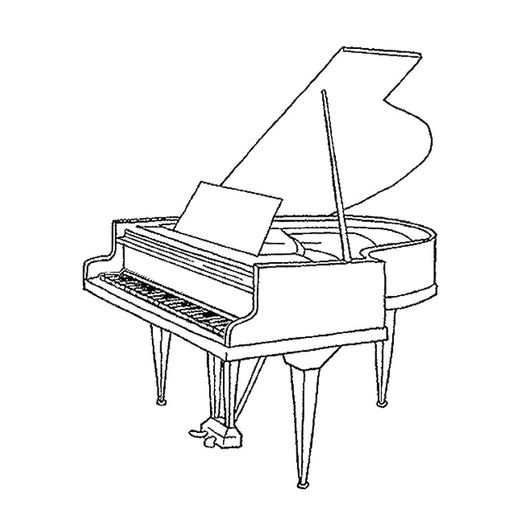 Coloriage dessiner th me musique - Dessiner un violon ...
