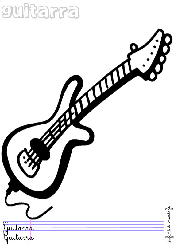 Coloriage Musique Du Monde