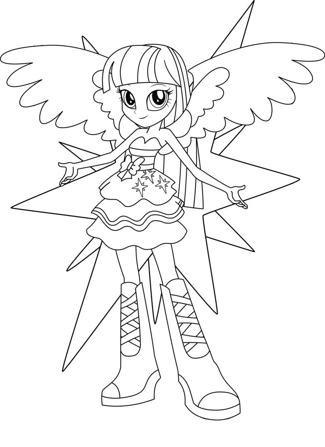 coloriage my little pony equestria