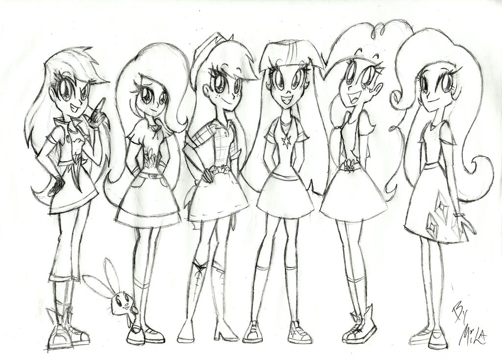 Рисунки девочек из эквестрии для срисовки