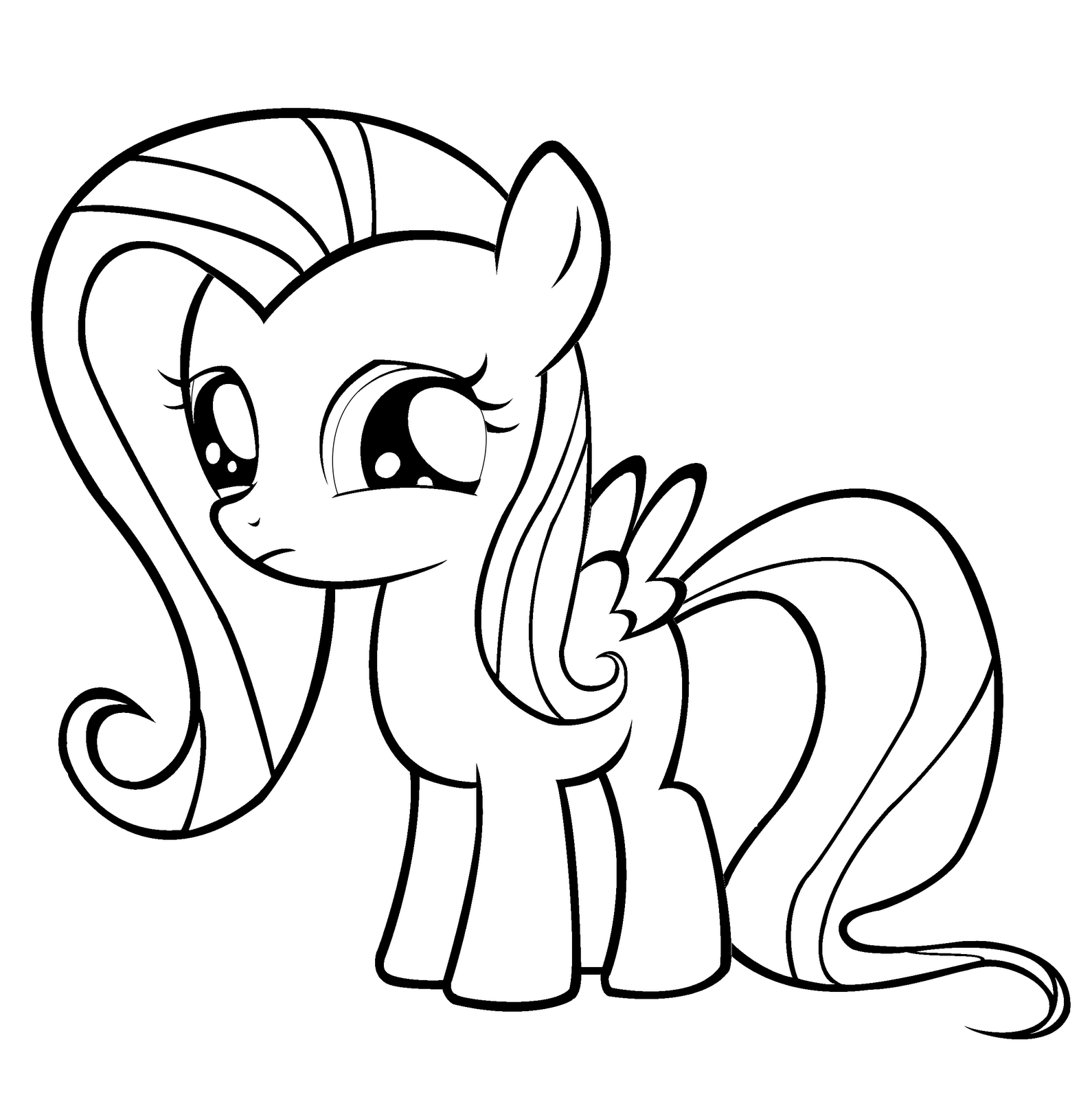 My Little Pony Coloring Pages Baby Rarity : Dessins de coloriage my little pony fluttershy à imprimer