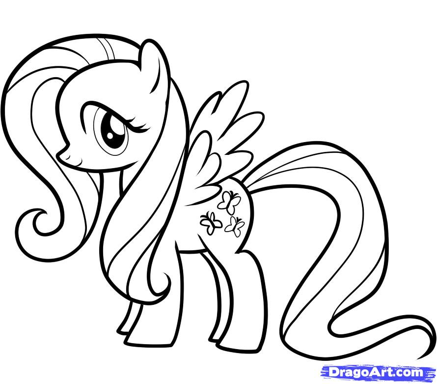 coloriage my little pony fluttershy