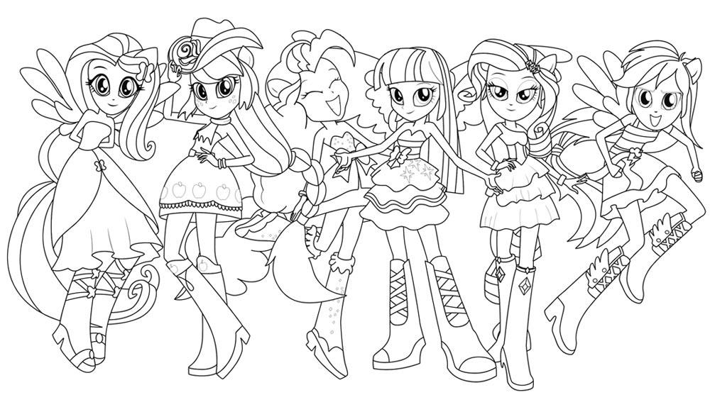 15 dessins de coloriage my little pony humaine imprimer - Coloriage pinkie pie ...