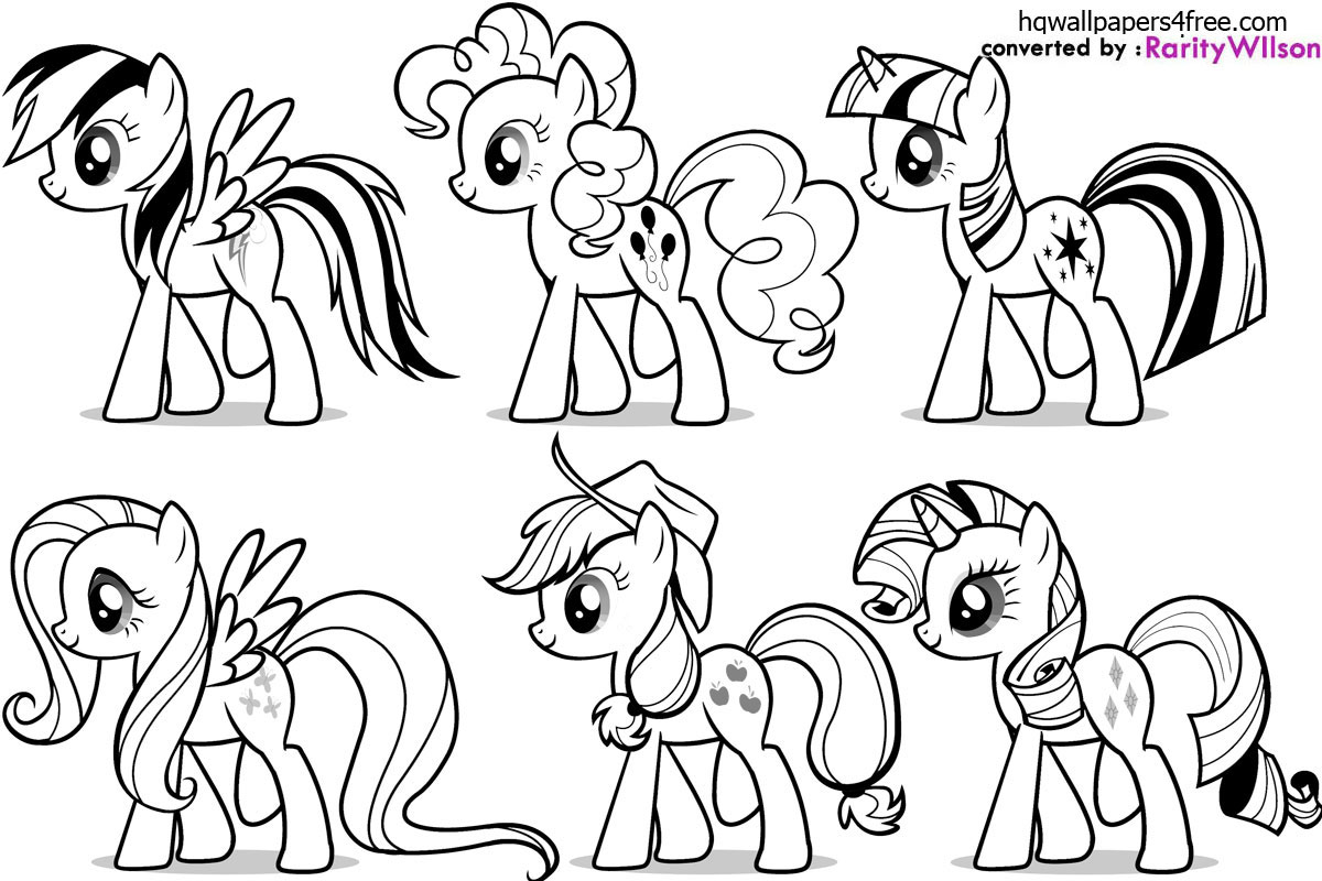 coloriage � dessiner magique my little pony