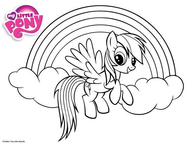 dessin à colorier my little pony a colorier