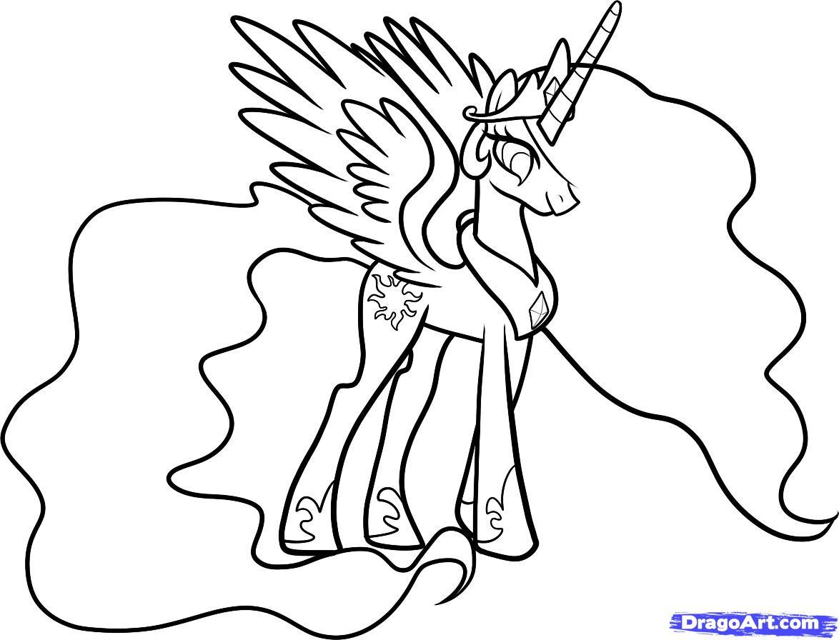 dessin à colorier my little pony princesse twilight