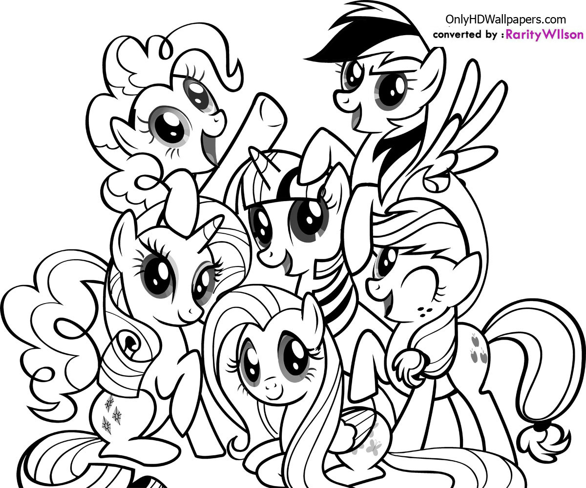 coloriage de my little pony human