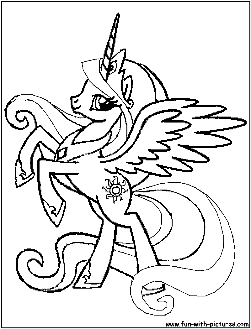 Dessin ã Colorier My Little Pony Celestia