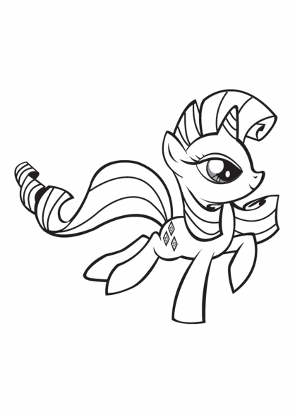 dessin � colorier � imprimer my little pony