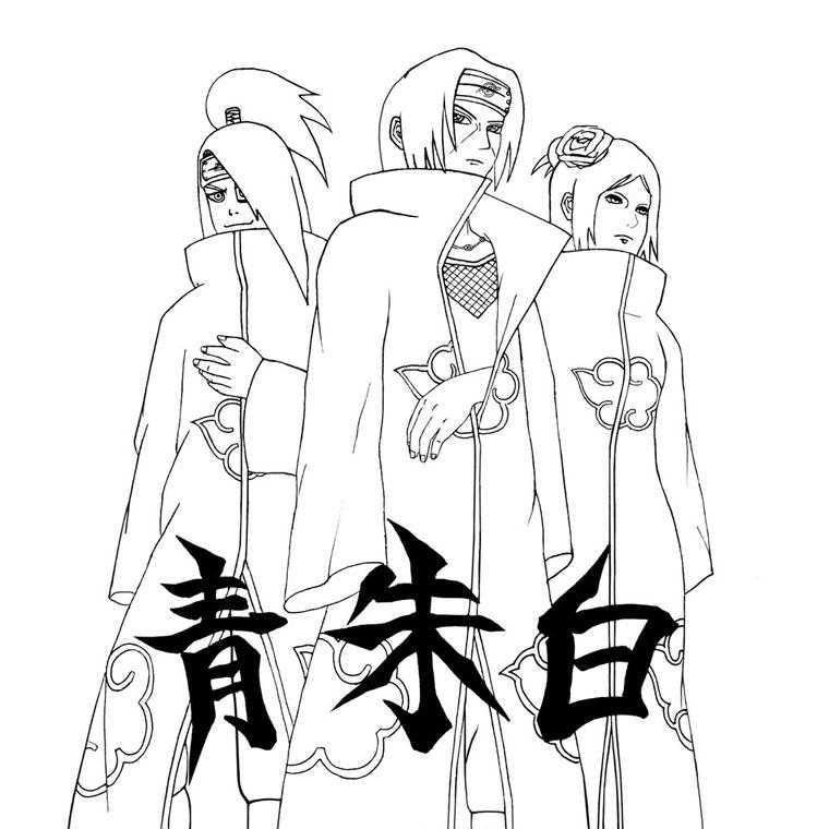 Dessin naruto shippuden kakashi - Image a colorier naruto ...