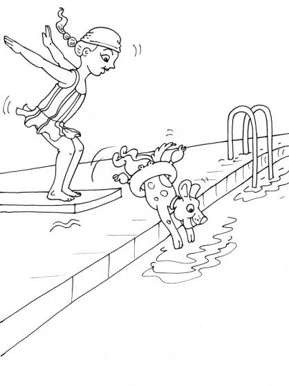 dessin à colorier natation à imprimer