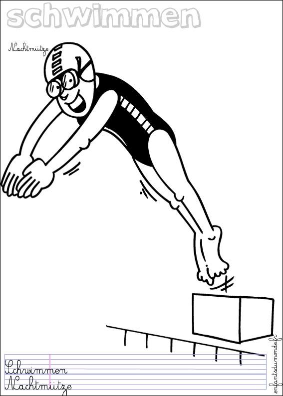 dessin natation imprimer