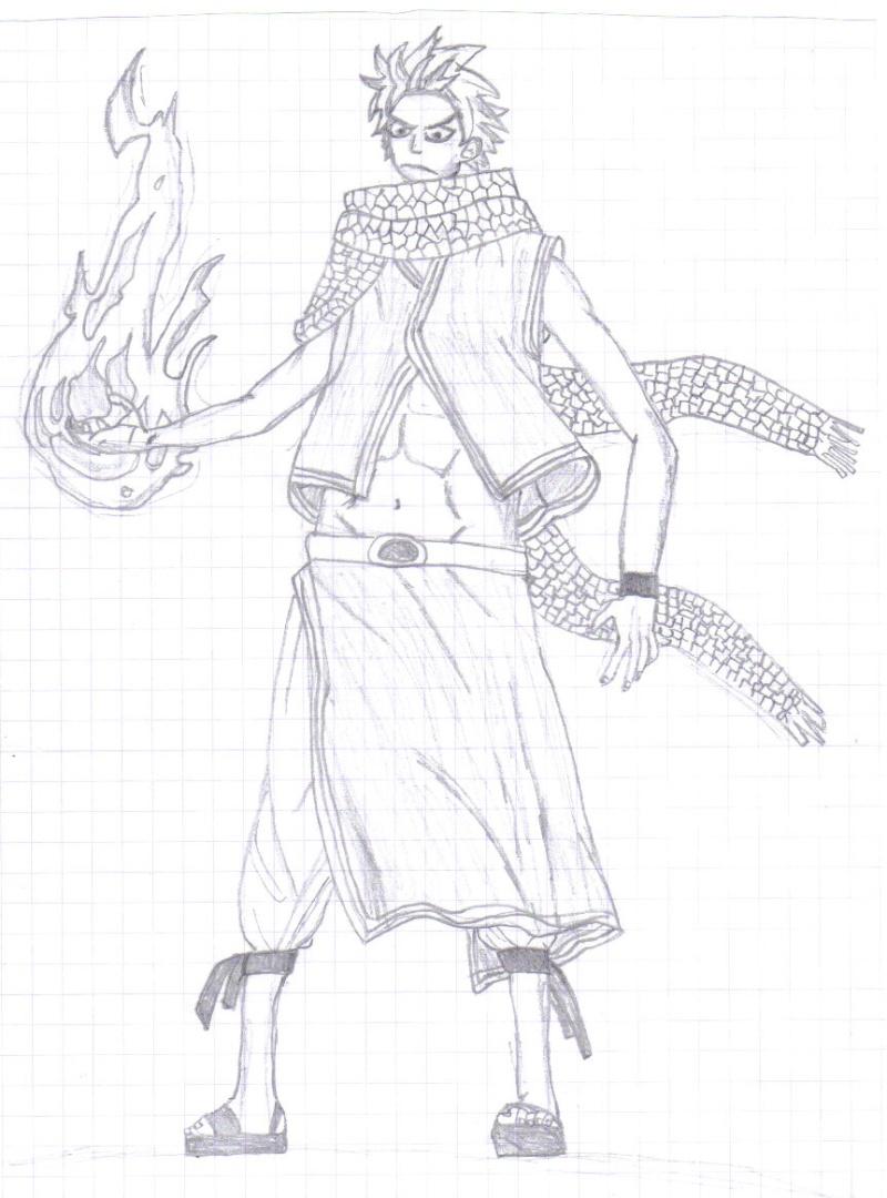 coloriage de natsu en dragon