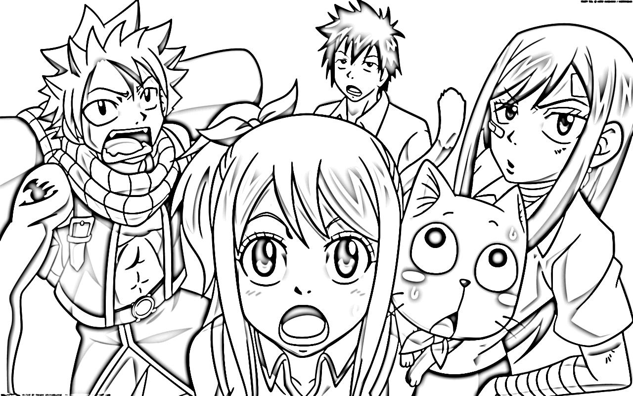 coloriage à dessiner de natsu en ligne