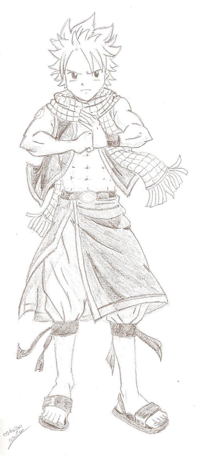 dessin à colorier natsu et lucy