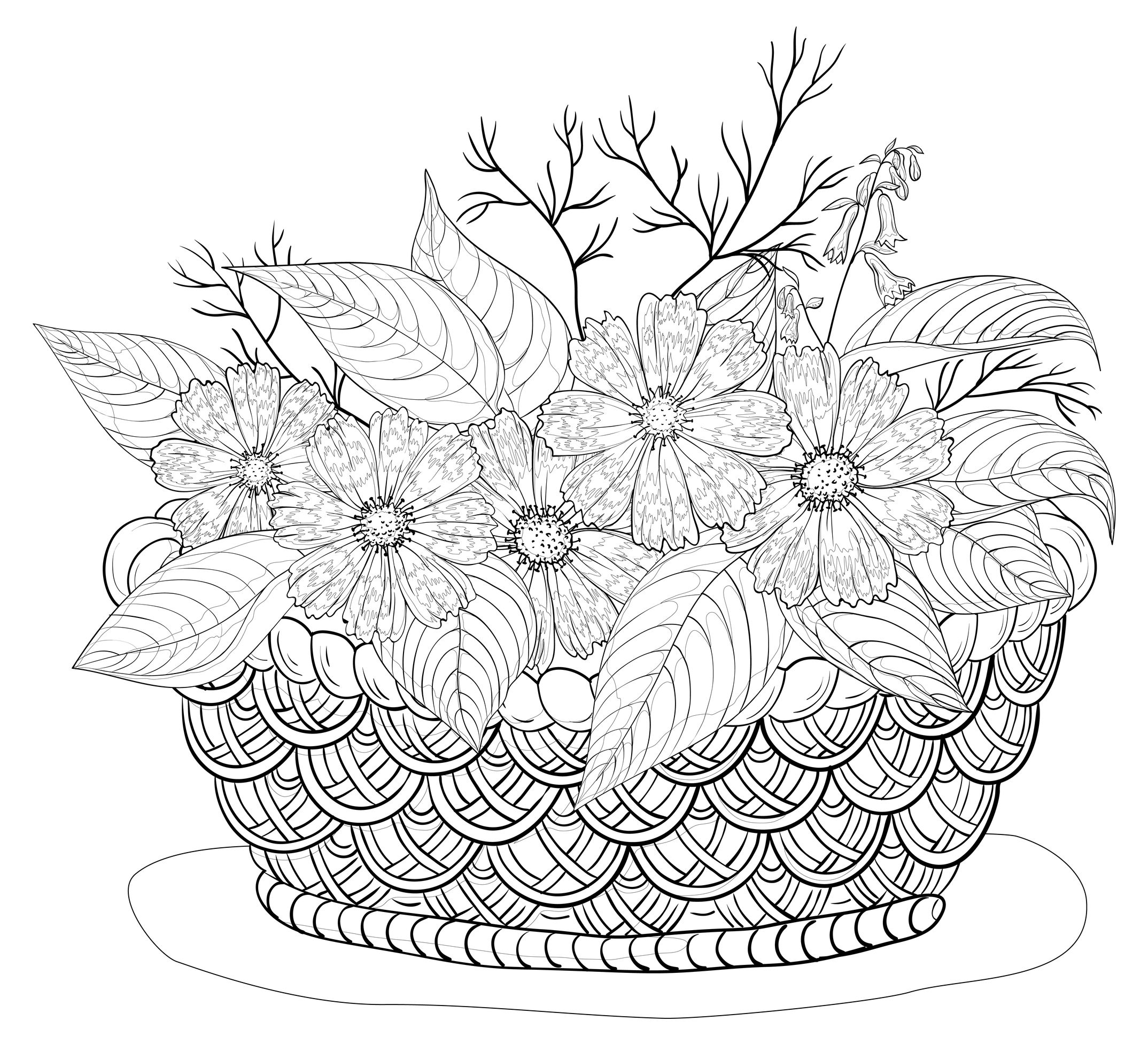 90 dessins de coloriage nature adulte imprimer - Coloriage adulte difficile ...
