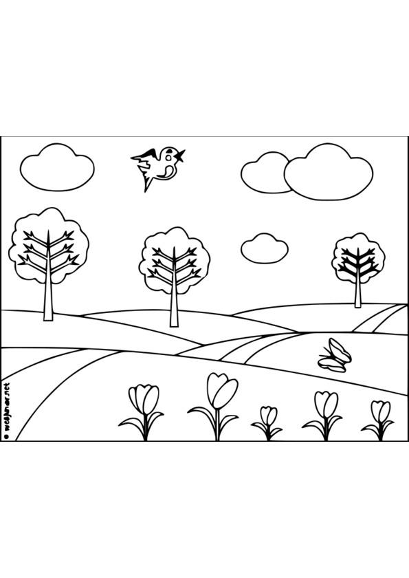 coloriage nature imprimer gratuit