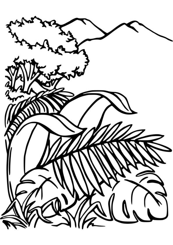 coloriage fille nature