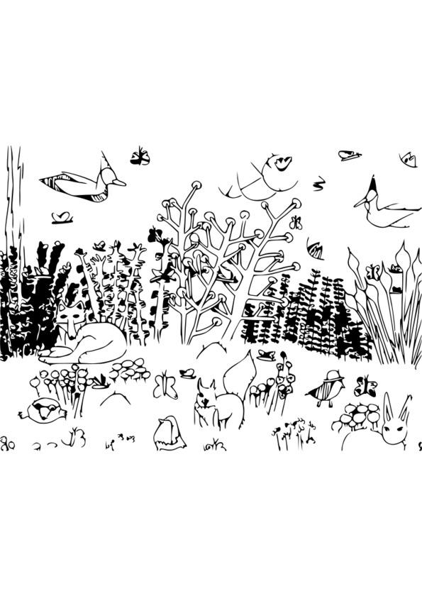 Coloriage Anti Stress Nature Et Decouverte.142 Dessins De Coloriage Nature A Imprimer