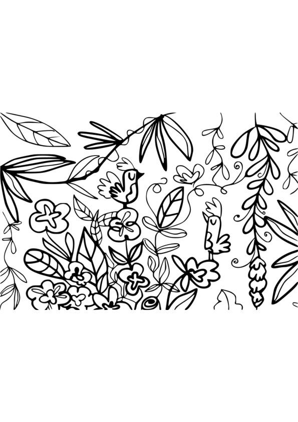 dessin à colorier nature zen