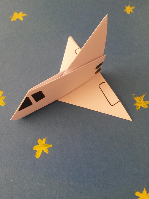 dessin à colorier de navette spatiale