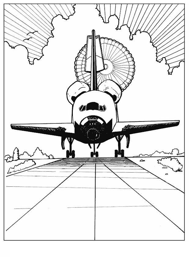 coloriage à dessiner de navette spatiale