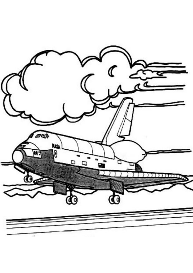 coloriage à dessiner navette spatiale imprimer
