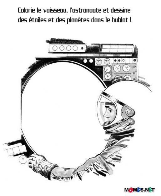 dessin navette spatiale à imprimer