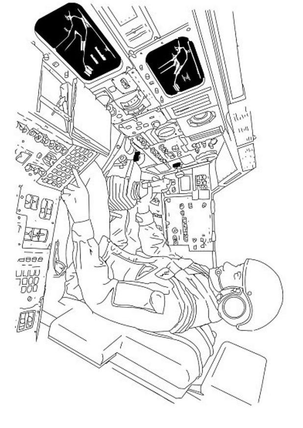 coloriage à dessiner navette spatiale