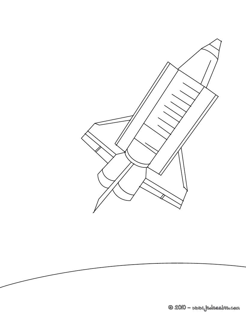 dessin en ligne navette spatiale