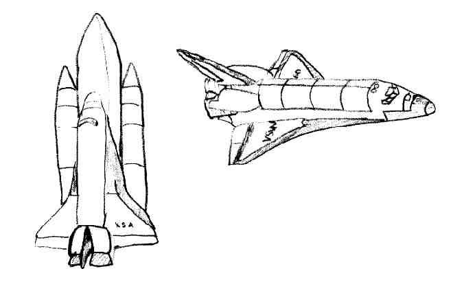 dessin navette spatiale imprimer
