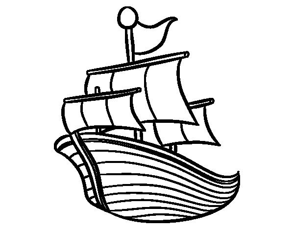 coloriage navire de guerre