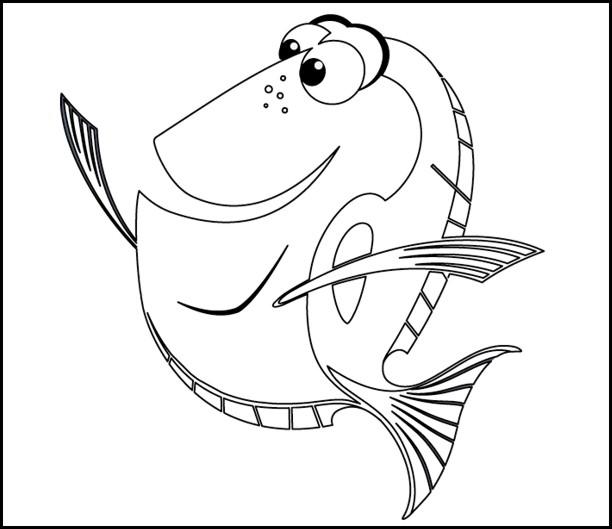 Jeux de dessin de nemo - Nemo coloriage ...