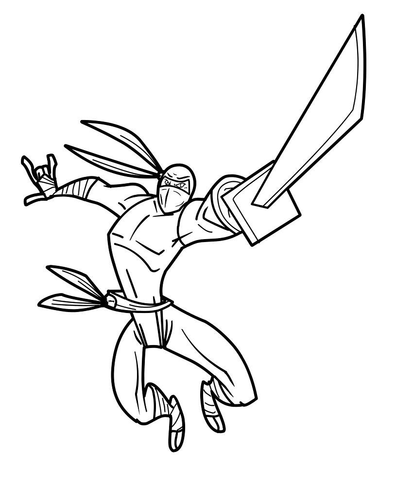 13 dessins de coloriage ninja à imprimer