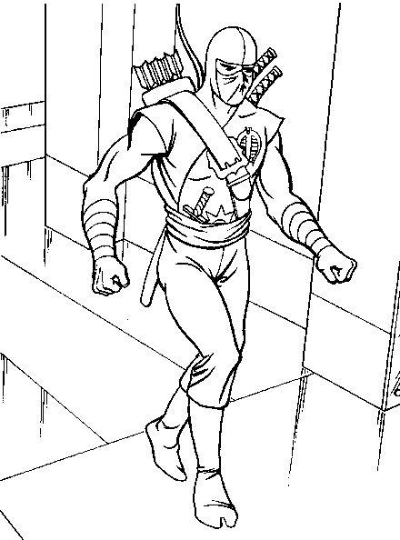 dessin à colorier de ninja gratuit
