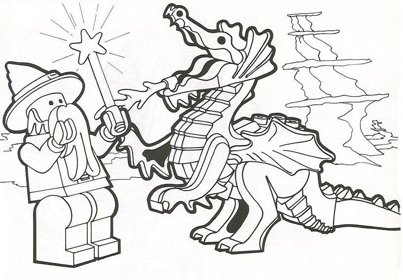 dessin à colorier ninjago bleu