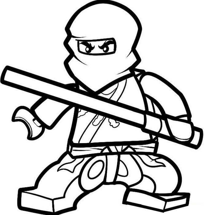 coloriage à dessiner ninjago à imprimer